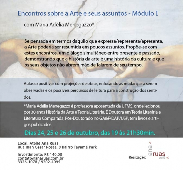 Para adultos - Palestras, debates e oficinas