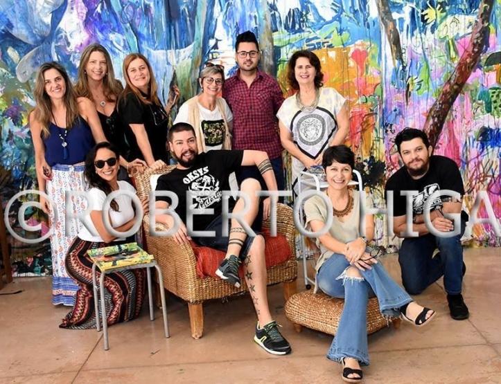 Fotos - Amigos, colegas artistas no ateliê